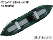 Inflatable Self-Bailing Ocean Fishing Kayaks