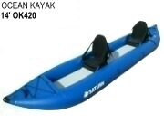 Inflatable Ocean Kayaks for rentals and commercial use