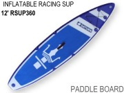 12' Inflatable Touring Speed Paddle Board SUP