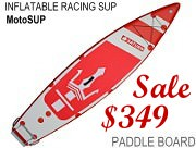 MotoSUP. Racing Inflatabl Paddle Board SUP. Great inflatable paddle boards for racing and sport.