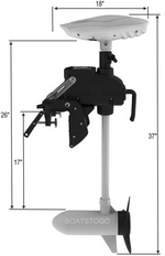 RC Electric Trolling Motor Dimensions. Click to zoom in.