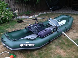 Customer submitted picture of RD365 raft with frame