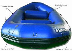New & improved 2010 RD390 white water river rafts. Click on image to zoom in.