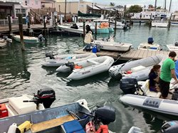 Inflatable Boats in Key West Marina.