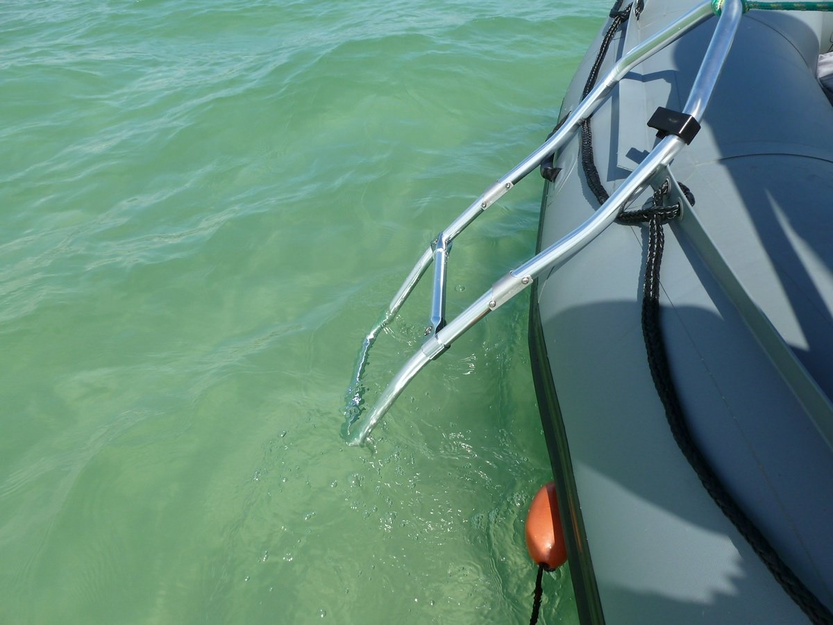 Foldable Swimming Ladder For Inflatable Boats Dinghy Kaboat