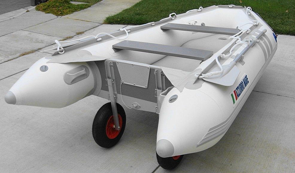 Jon Boat Launch Wheels : Aluminium launching wheels for inflatable boat dinghy
