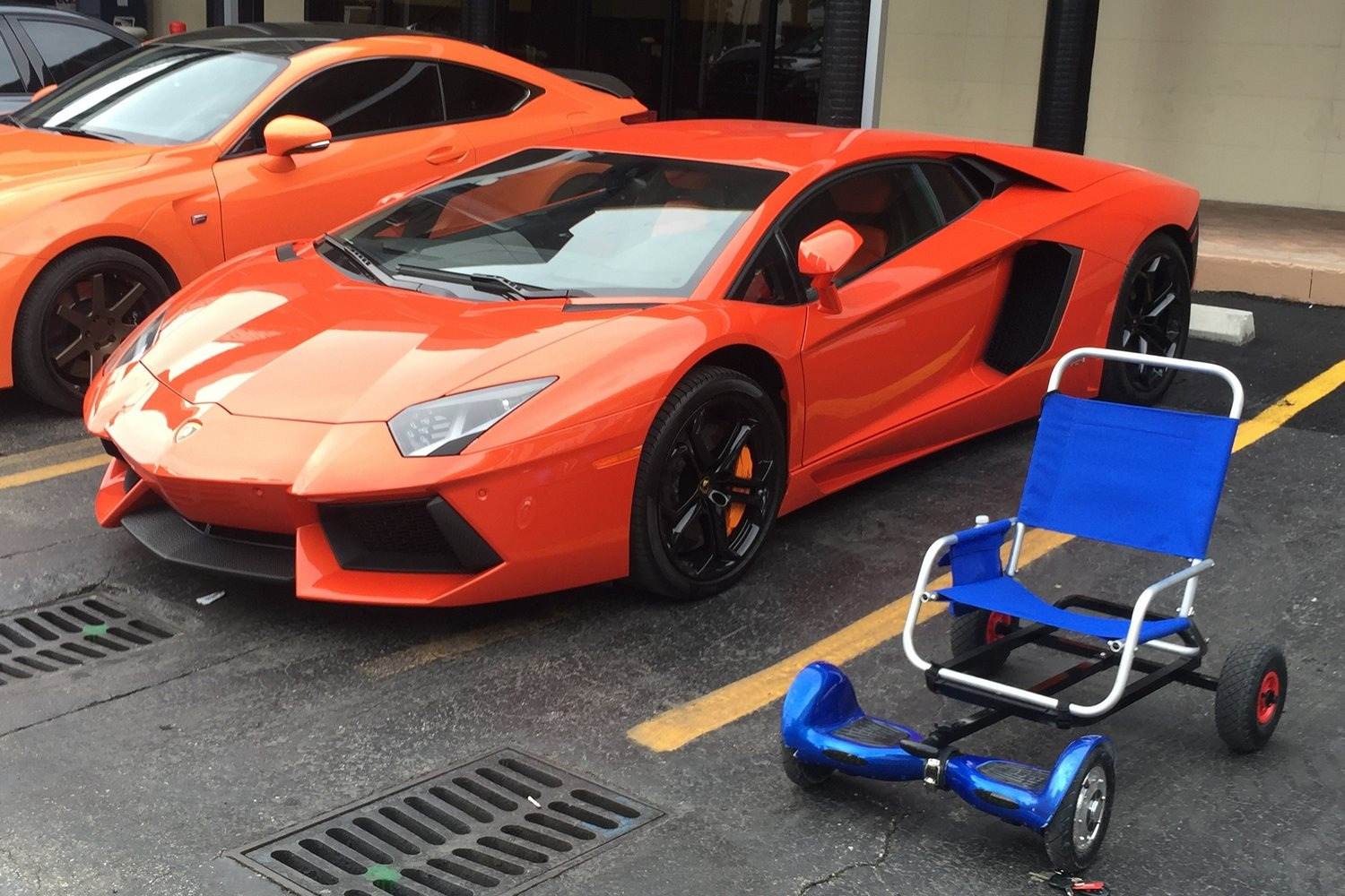 Lamborghini Hoverboard Blue And Red Fiat World Test Drive