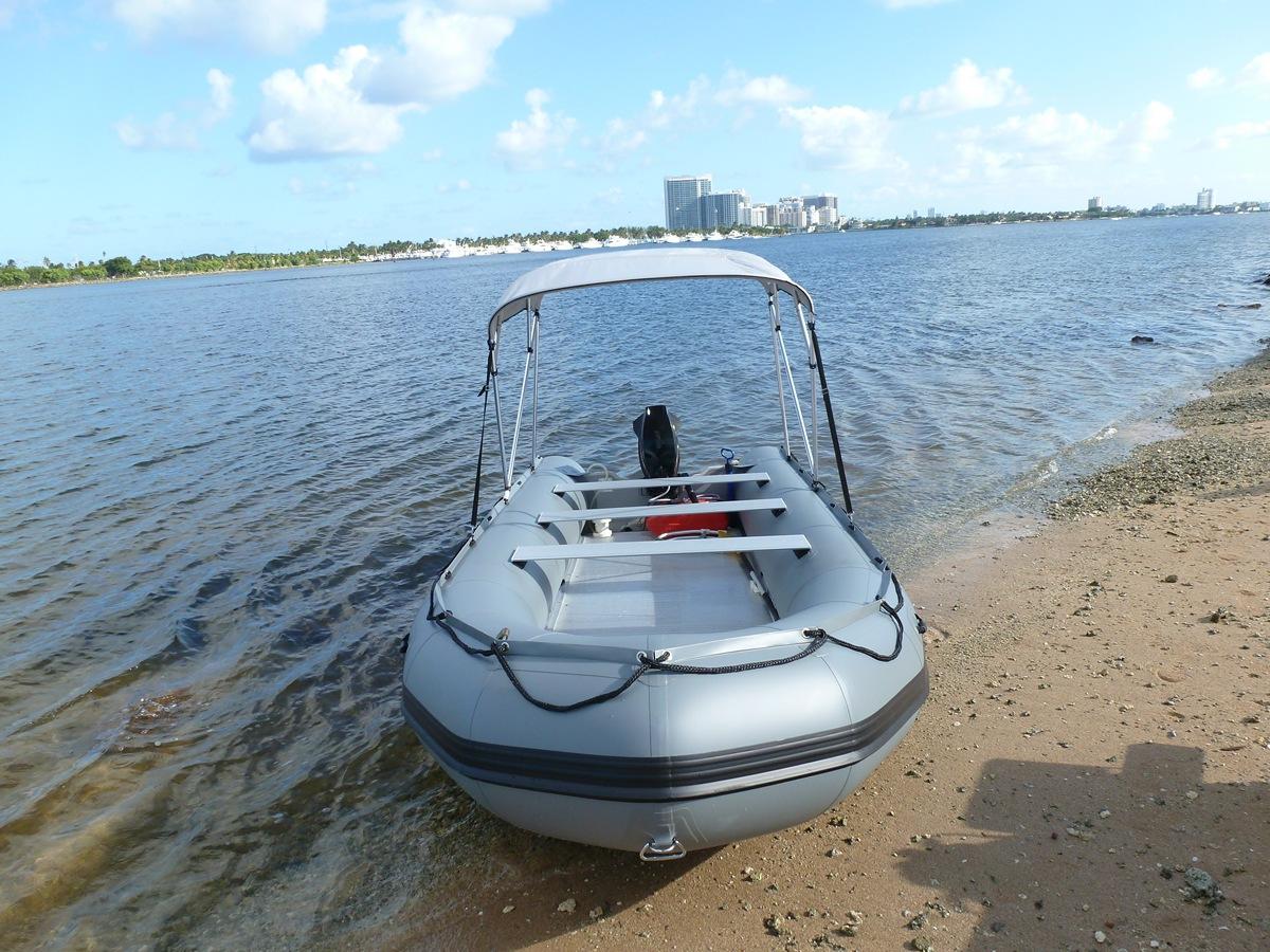 4-Bow Sun Shade Canopy Top & Folding 4-Bow Sun Shade Canopy Top for Inflatable Boats.