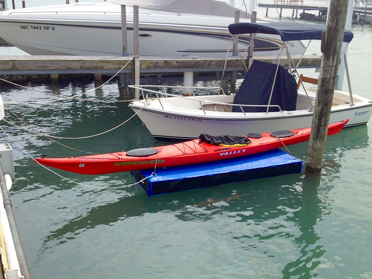 floating dock for kayak canoe inflatable boat or small watercraft