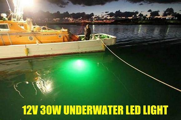 30w underwater fishing led light 12-24v., Reel Combo