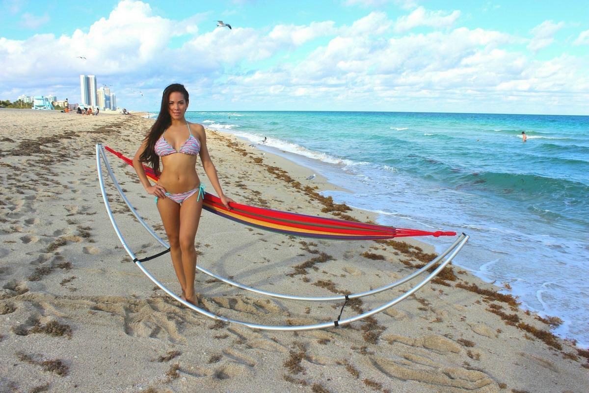beach hammock   standard model size folding beach hammock  portable travel hammock   rh   boatstogo