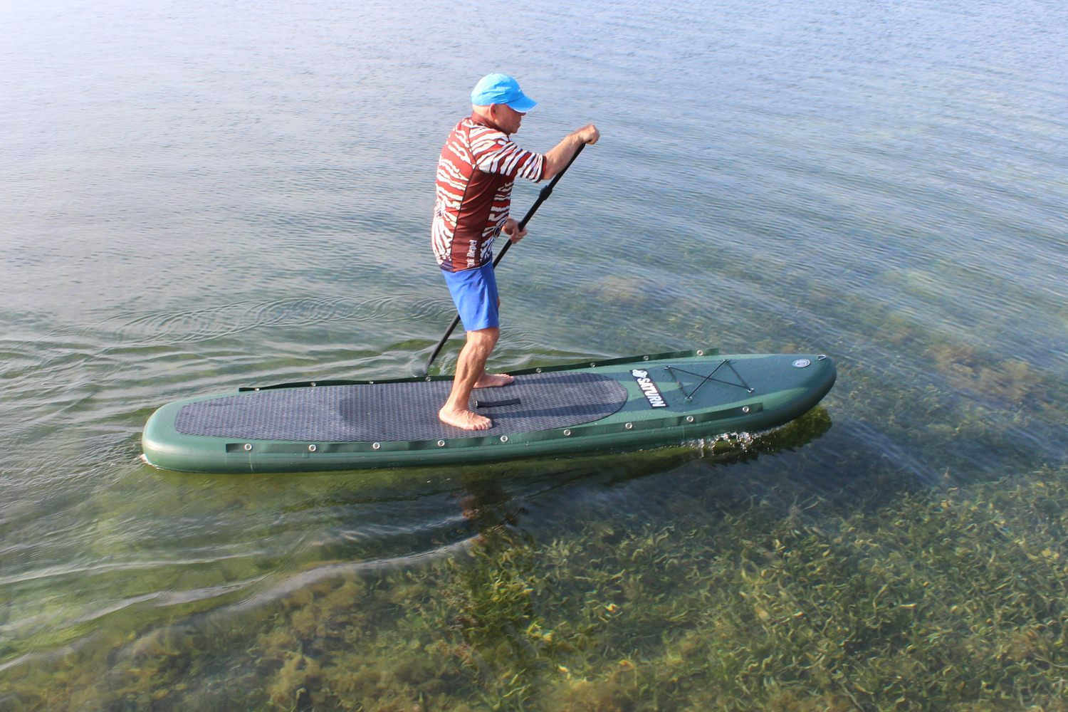 Saturn pro angler fishing inflatable paddle boards sup on for Fishing paddle boards for sale