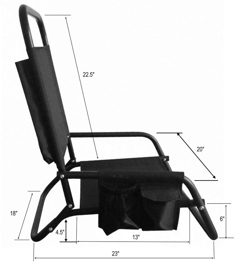 Boat Seat Dimensions : Aluminum folding beach chair paddle board kayak seat