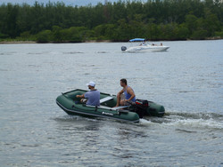 Extra wide boat is great for any activity on a water. Click on image to zoom in.