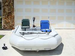 Gray Saturn SD330W inflatable boat