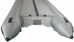 Heavy-Duty Marine transom with 3 drain outlets.