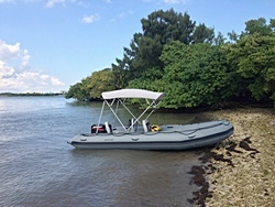 18' Saturn SD510 Inflatable Motor Boat. Click to zoom in.