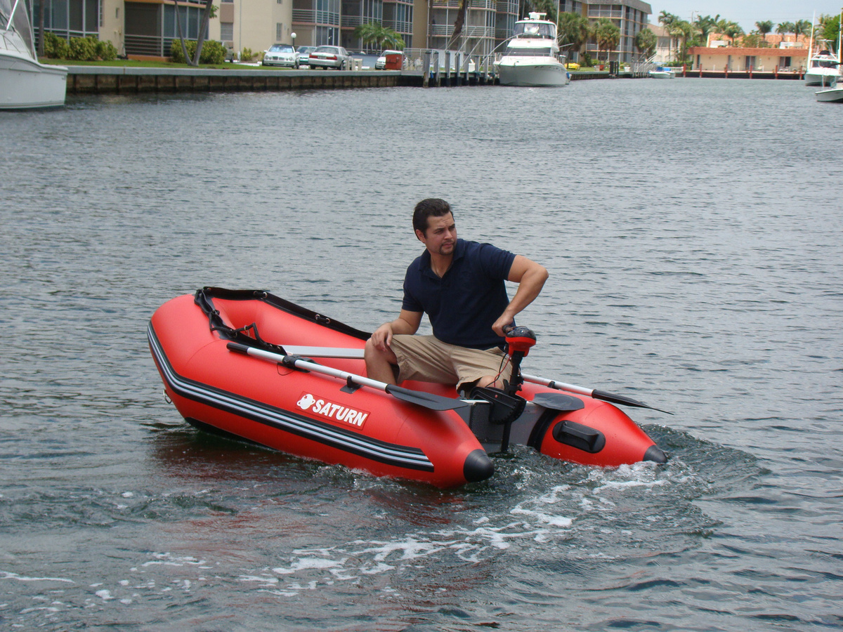 Saturn 8 6 39 Inflatable Boat With Aluminum Slated Floor Ss260