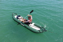 It is very easy to paddle OFK396 fishing kayak