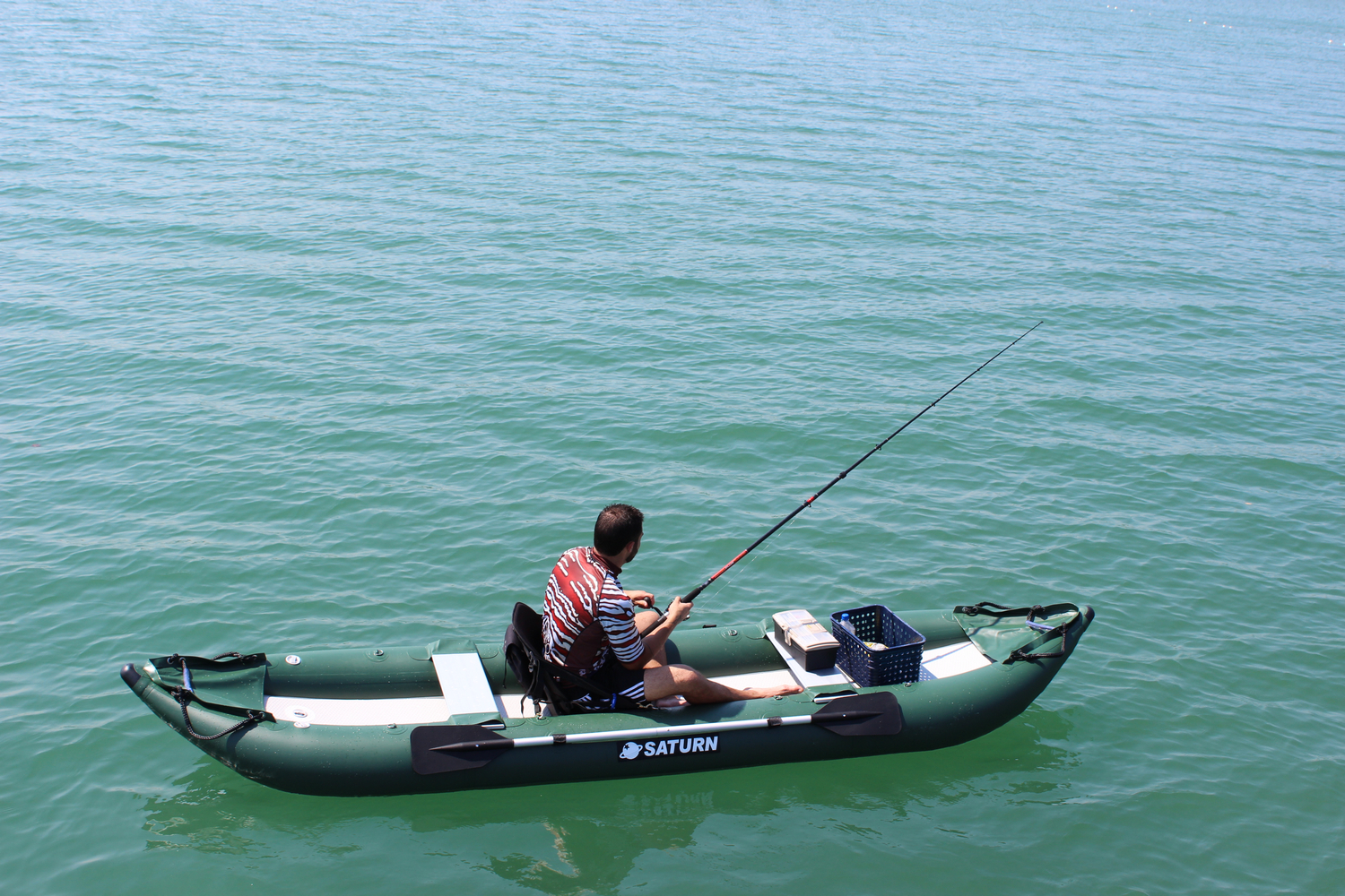 saturn ocean pro angler inflatable fishing kayaks