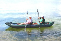 Saturn Inflatable Ocean Kayak Paddles By 2 People. Clic to zoom in.