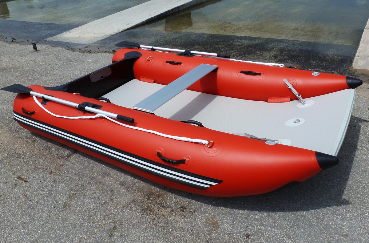 Portable Compact Mini Cat Inflatable Boat With Catamaran