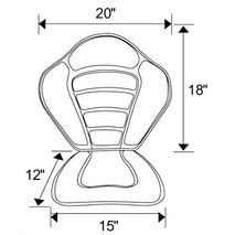 Deluxe Fishing Kayak Seat Dimensions