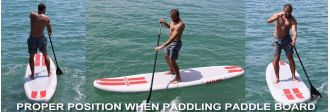 Proper positions for stand up paddle boarding