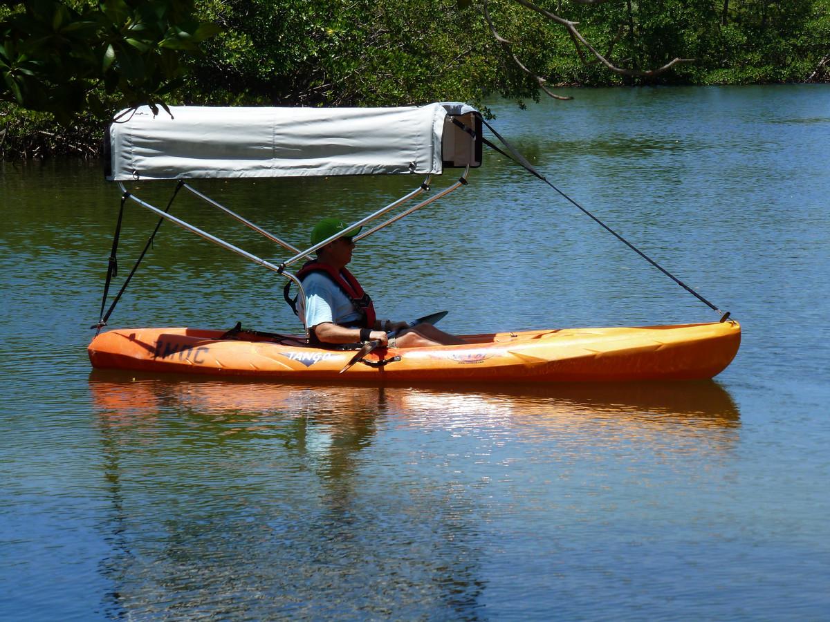 2 Bow Sun Shade Canopy Bimini Top For Boat Kayak Canoe