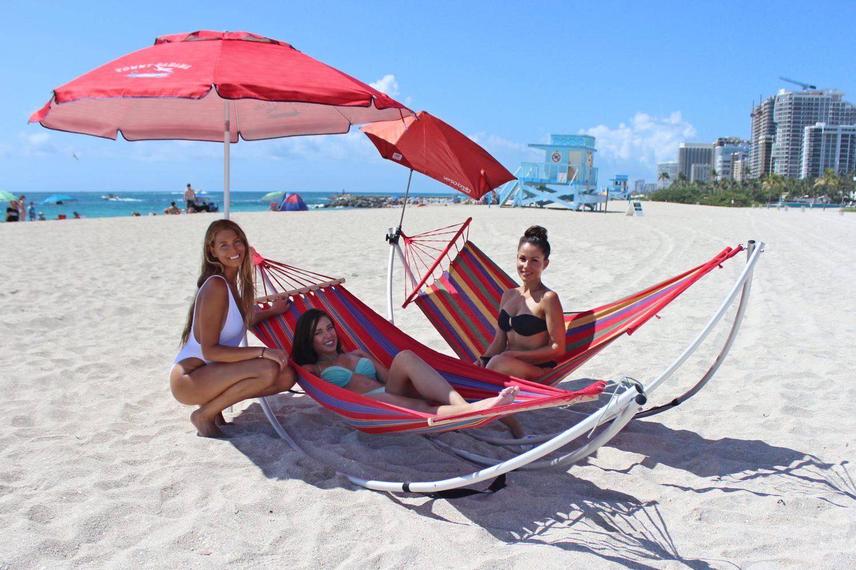 Demo Sale Folding Beach Hammock Portable Travel Hammock