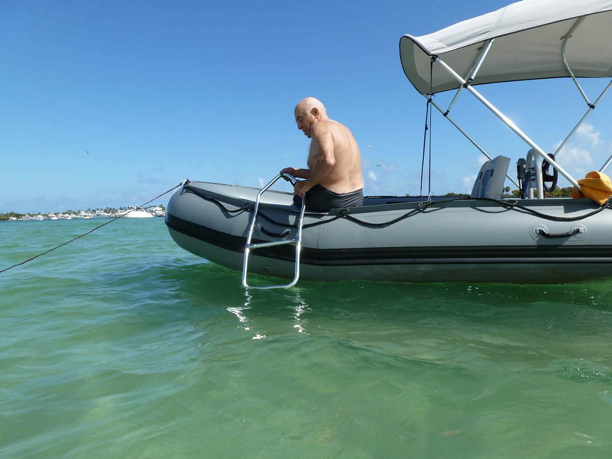 Foldable Swimming Ladder for Inflatable Boats, Dinghy, KaBoat.
