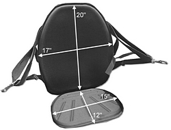 Inflatable Kayak Seat Dimensions. Click to zoom in.