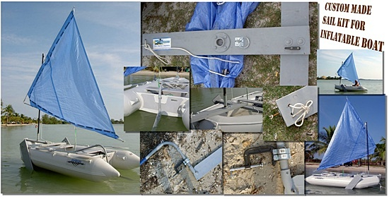 DIY Sail Kit moun for inflatable boat dinghy. Click to zoom in.