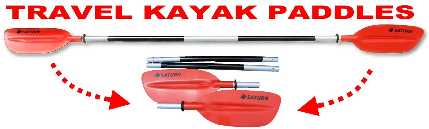 Folding Travel Kayak Paddle with Additional T-handle