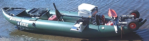 Saturn FK396 Fishing Kayak set up by customer. Click on image to enlarge.
