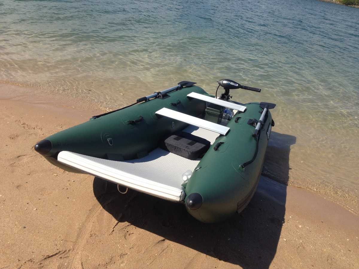 Inflatable catamaran nano cat nc290 for Inflatable pontoon boat fishing