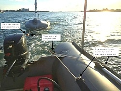 Towing set up to tow object behind your inflatable boat.