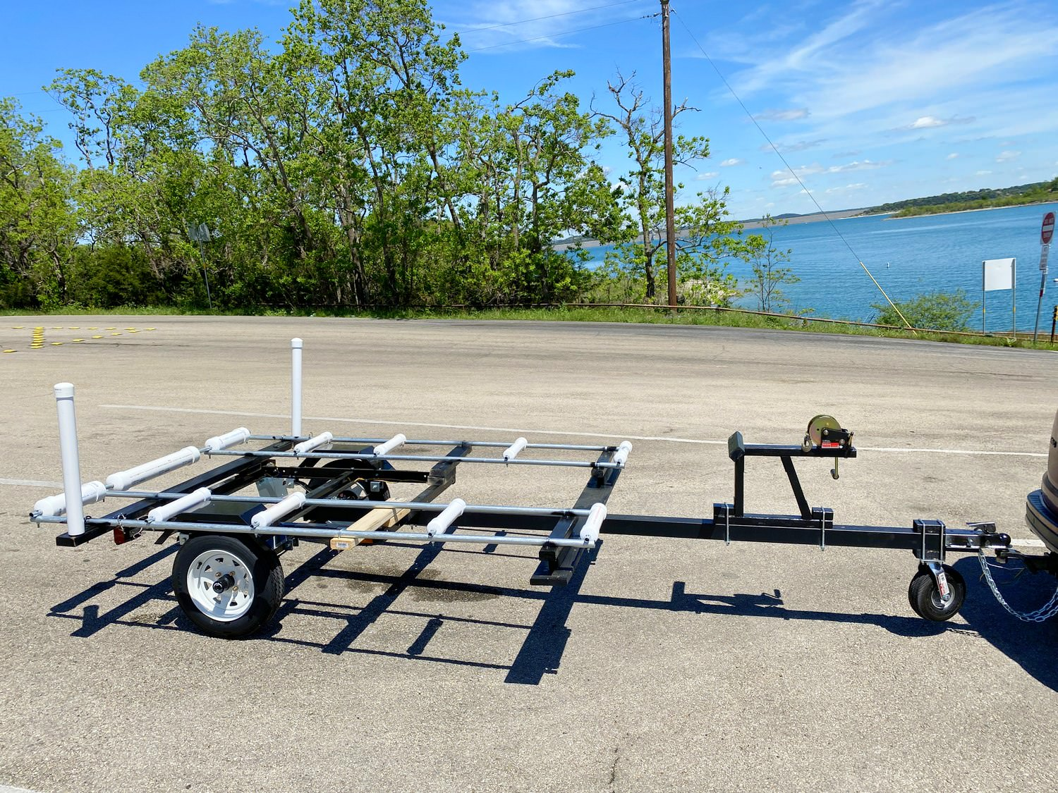 Custom modified Northern Tools small flat trailer