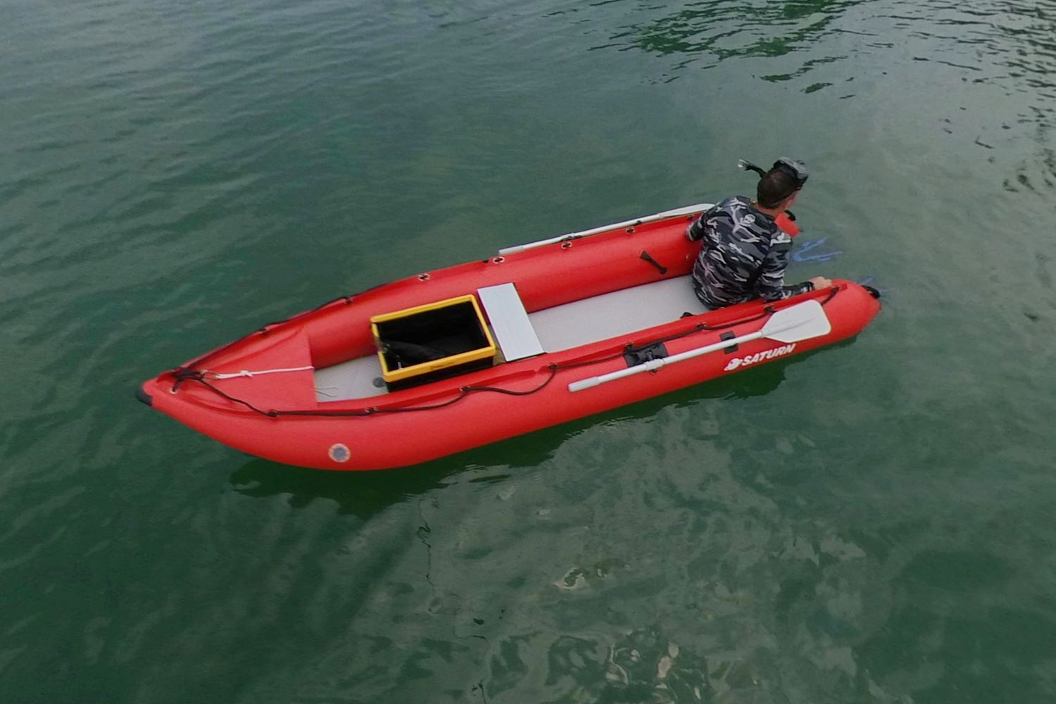 inflatable boat for diving and snorkeling