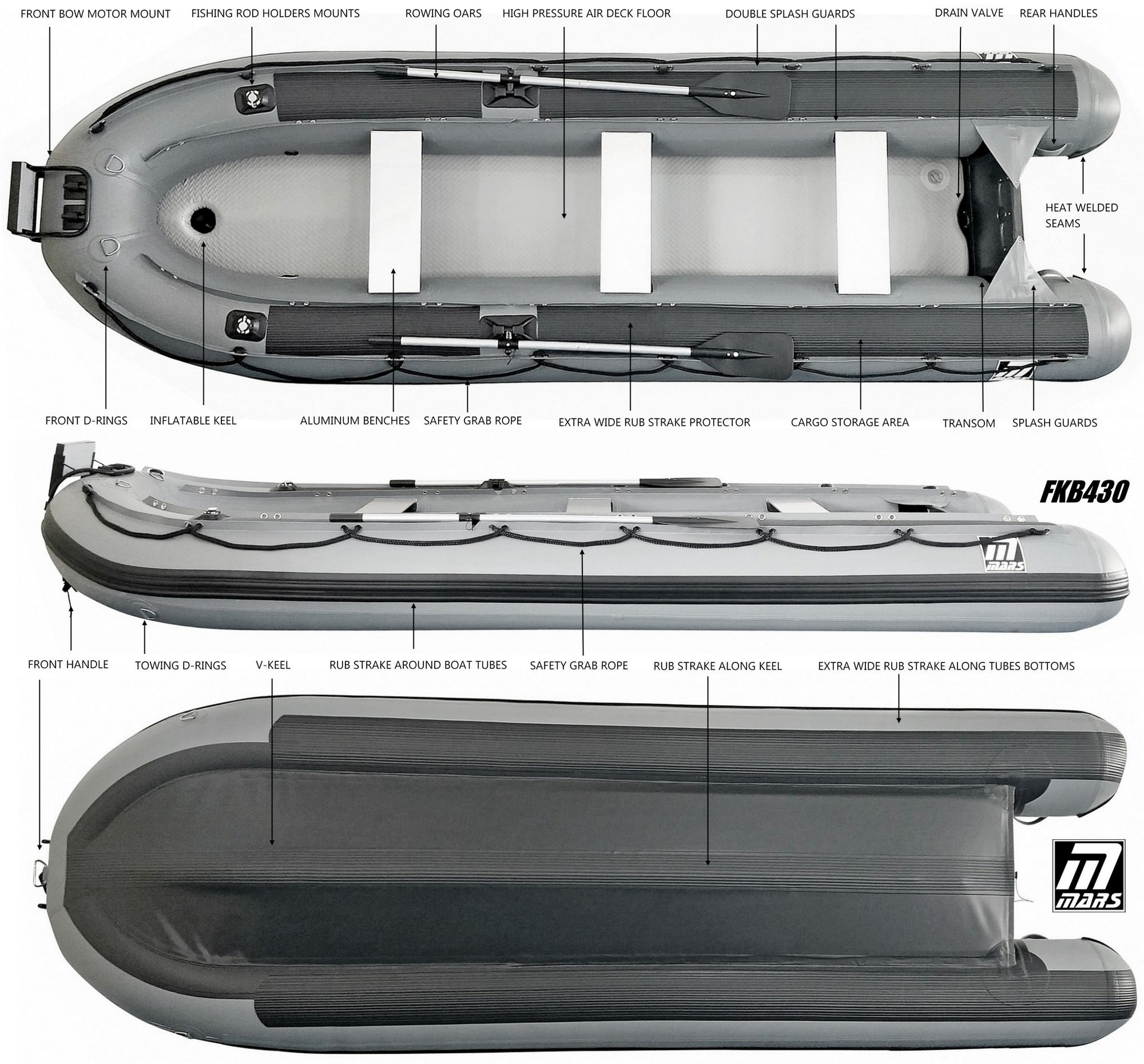 Mars FKB430 fishing KaBoats specifications