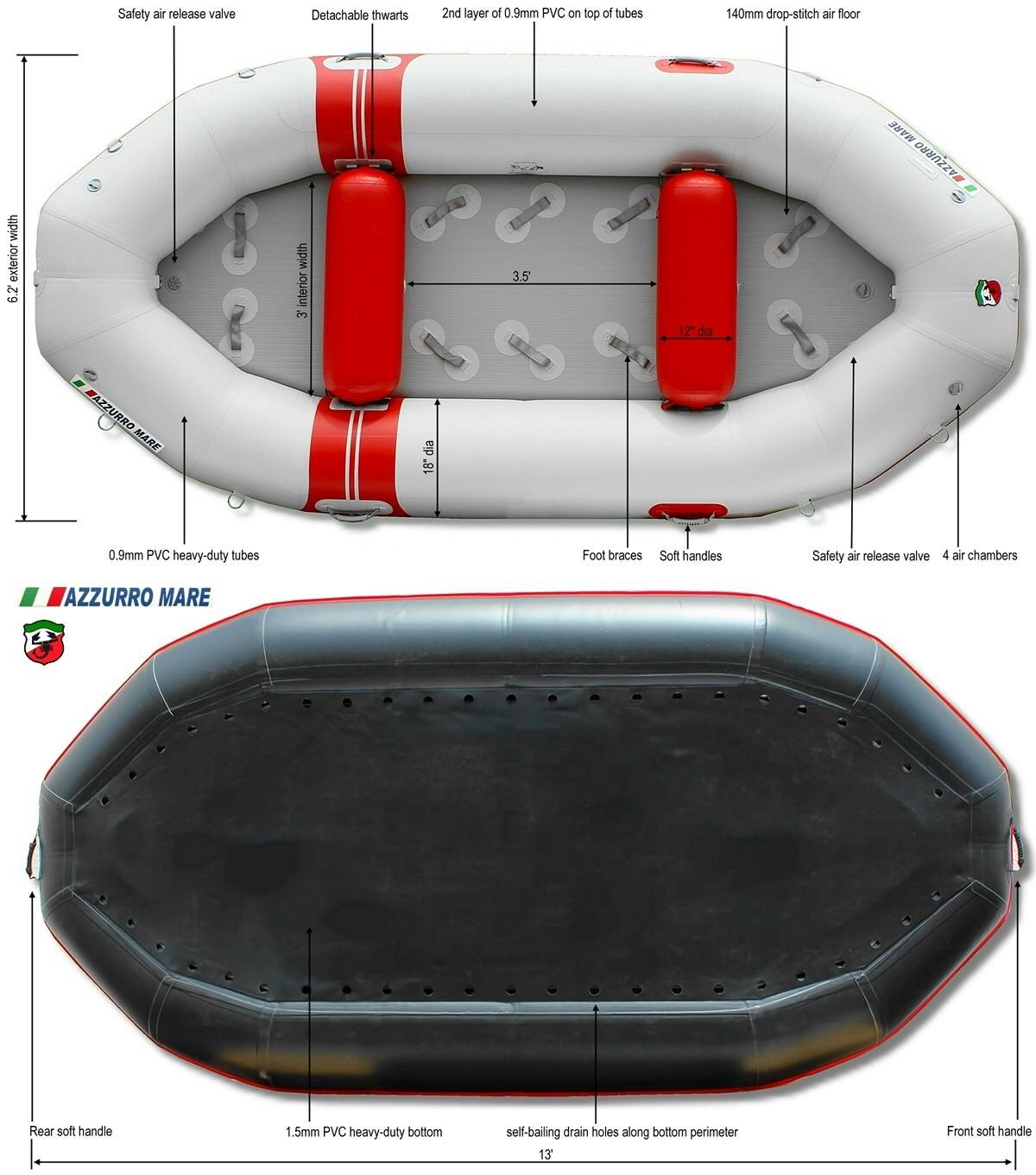Azzurro Mare River Raft AMR385 specs