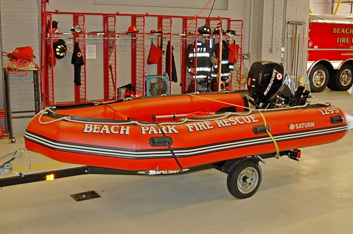 Saturn Inflatable Boat Used for Emergency Services