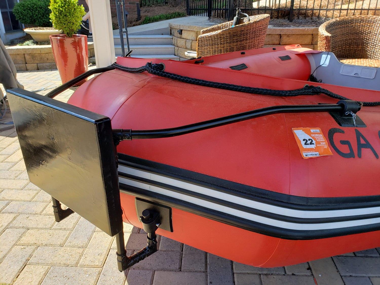DIY bow motor mount for inflatable boat dinghy raft tender
