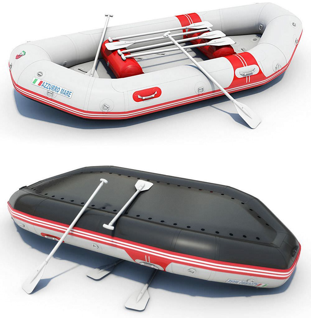 Azzurro Mare Inflatable River Raft for grade IV whitewater rivers.