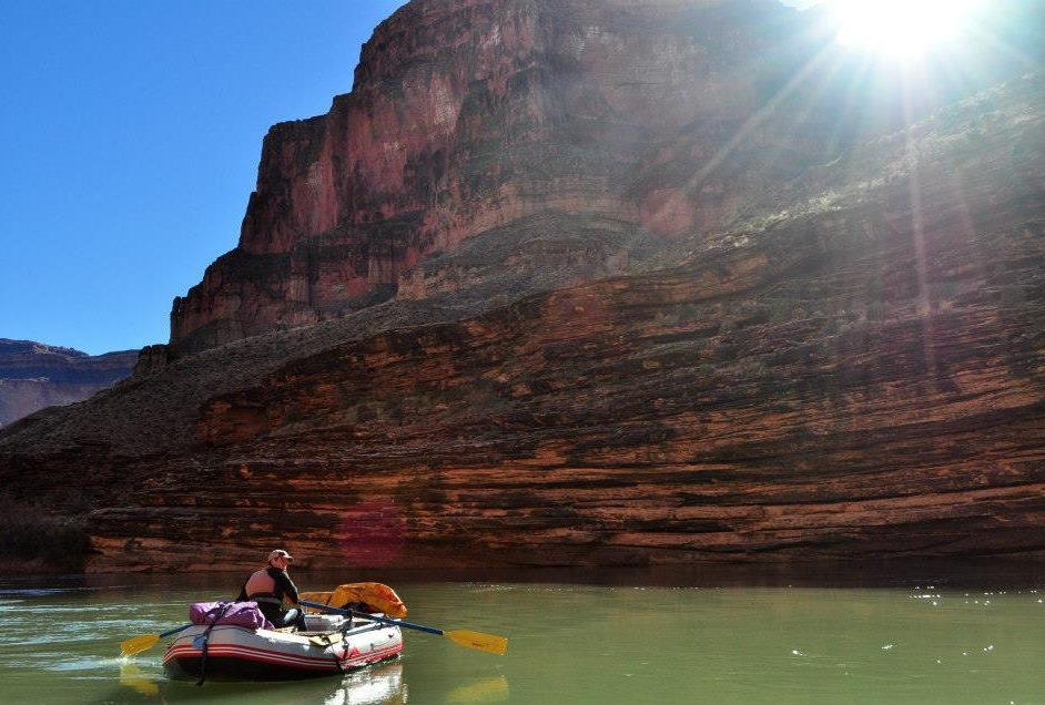 Down the Colorado through the Grand Canyon in the Azzuro Mare river raft