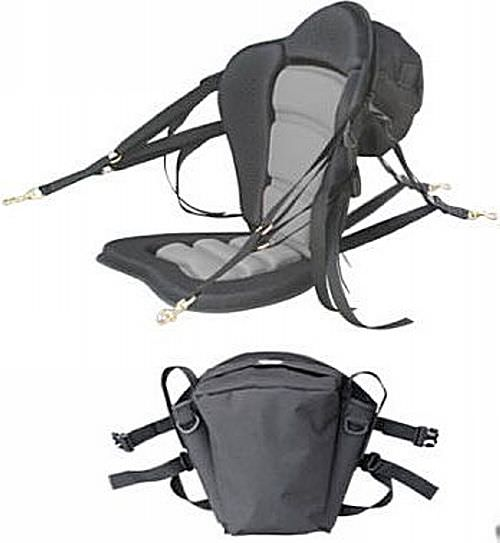 DELUXE MOLDED FOAM KAYAK SEAT W// FISHING PACK AND FREE COMFORT EXTRA CUSHION