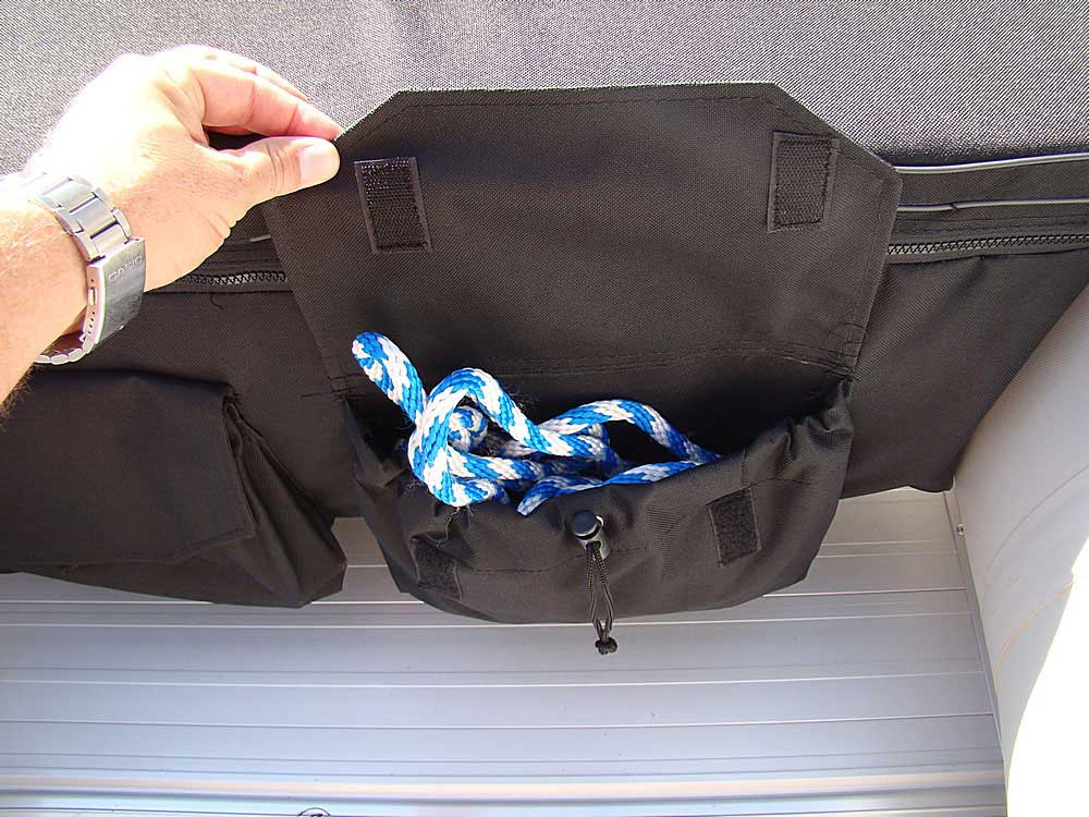 Use another pouch to store the anchor rope