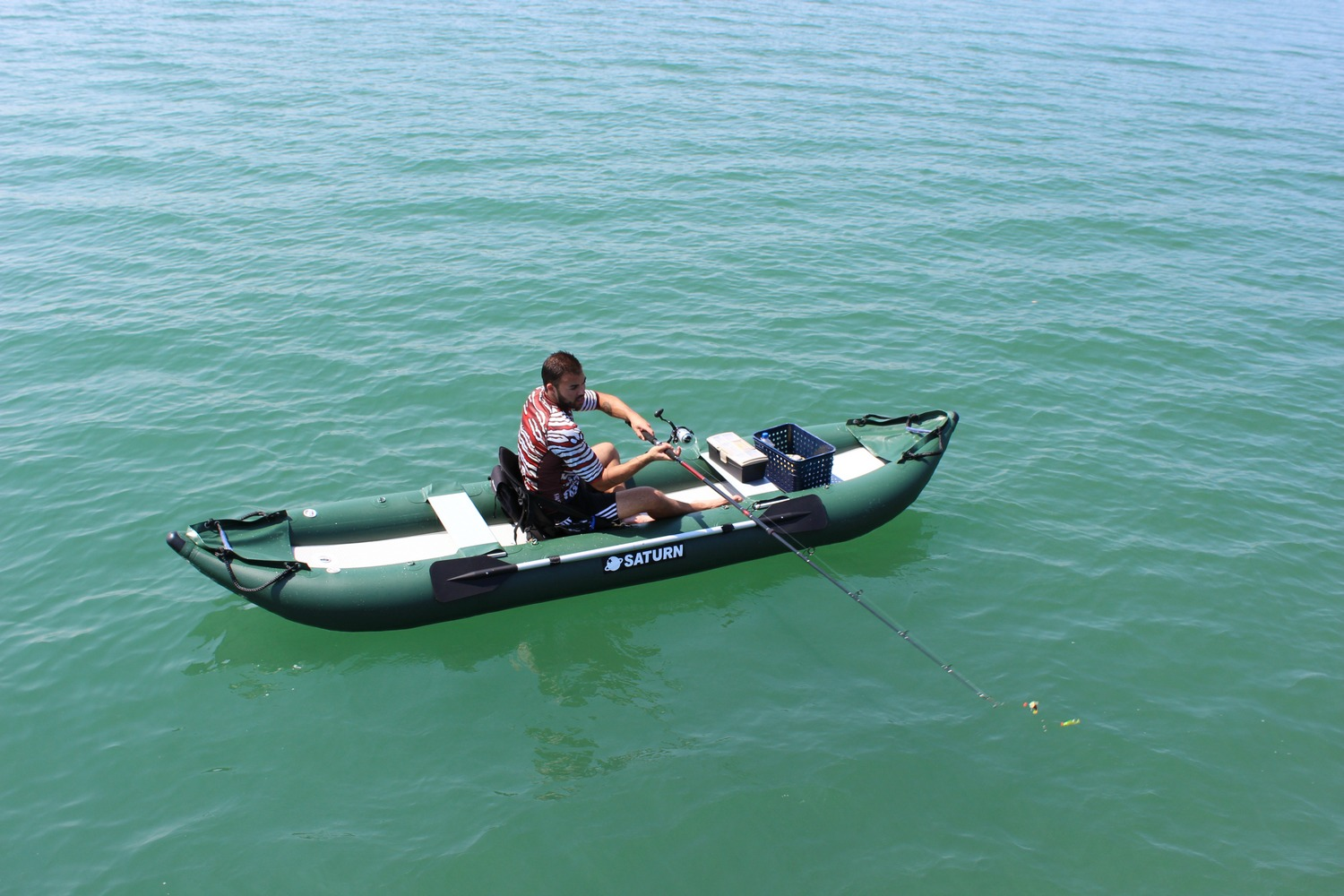 Saturn Inflatable Ocean Fishing Kayak OFK396