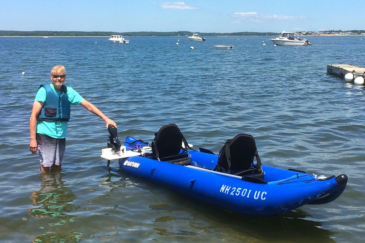 OK420 kayak with motor mount