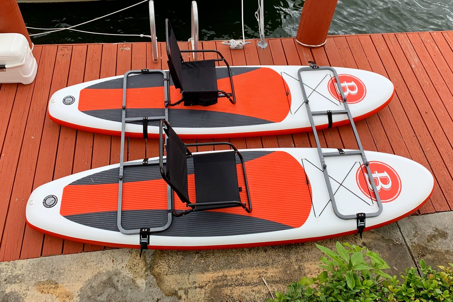 DELUXE FRAMES CONVERT INFLATABLE PADDLEBOARDS IN CATAMARAN EASY ATTACH MOTOR